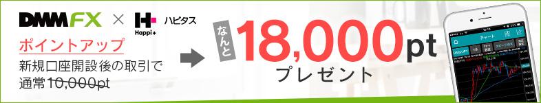 DMMFX緊急ポイント付与実施中!10,000pt⇒18,000pt!