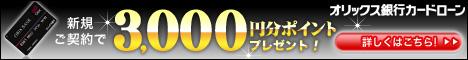オリックス銀行カードローン! 今ご契約で3000円分ptプレゼ ...
