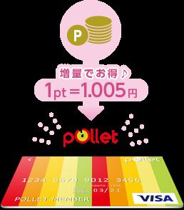 増量でお得♪1pt=1.05円