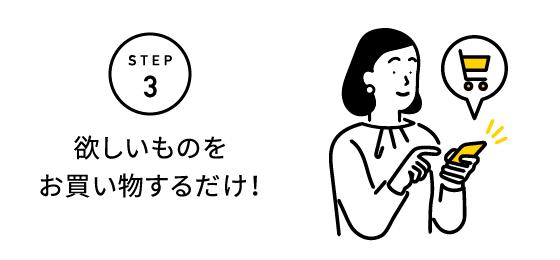 STEP3 欲しいものをお買い物するだけ!