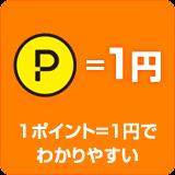 1ポイント=1円でわかりやすい