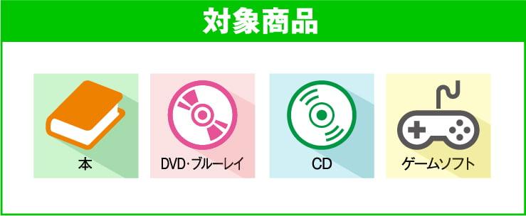 対象商品 本・DVD・ブルーレイ・CD・ゲームソフト