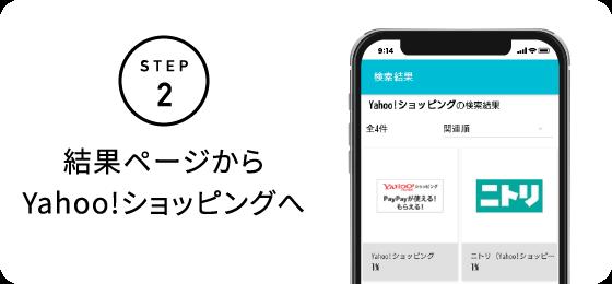 STEP2 結果ページからYahoo!ショッピングへ